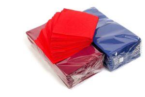 Серветки паперові кольорові